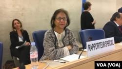 خانم جهانگیر سال گذشته جانشین احمد شهید به عنوان گزارشگر ویژه سازمان ملل در امور حقوق بشر ایران شد.