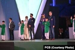 پاکستان سپر لیگ سیزن فائیو کی کراچی میں افتتاحی تقریب کا ایک اور منظر