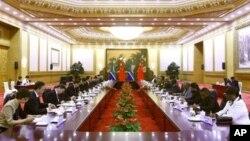 18일 베이징에서 개막한 중국-아프리카 협력 포럼 장관급 회의.