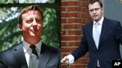 از چپ به راست: اندی کولسن رئیس امور روابط دفتر صدراعظم بریتانیا و دیفید کامرون صدراعظم بریتانیا