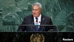 資料照:南太平洋島國圖瓦盧現任總理索波阿加連任失敗。