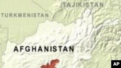 烏魯茲甘省在阿富汗的地理位置