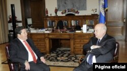 El Secretario General de la Organización de los Estados Americanos (OEA), José Miguel Insulza, y el Presidente de la Corte Suprema de Justicia de Colombia, Javier Zapata Ortiz