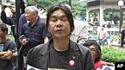 香港立法会民主派议员梁国雄(资料照片)