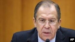 俄羅斯外交部長拉夫羅夫 (資料照片)