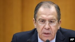 Ngoại trưởng Nga Sergei Lavrov.
