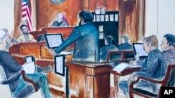 کارتونی از دادگاه رضا ضراب