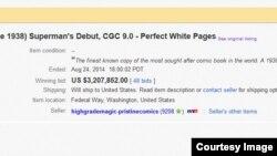 Cuộc đấu giá kết thúc với giá 3.207.852 đôla