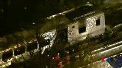 2015-02-04 美國之音視頻新聞: 紐約通勤火車與汽車相撞至少七人喪生