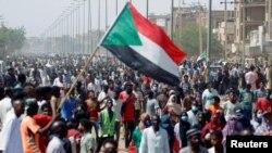 Imbaga mu myigaragambyo muri Sudani ku italiki ya 30/06/2020