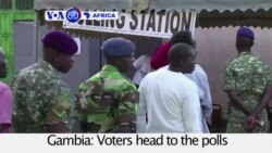 VOA60 Africa - Gambia:Voters head to the polls in closely contested presidential election