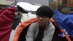 香港抗议者准备撤离