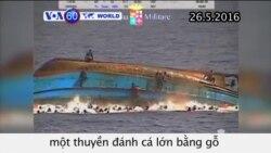 Lật thuyền ở Địa Trung Hải, 30 di dân được cho là đã chết (VOA60)