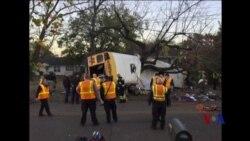 田纳西校车翻车六童死亡 司机被捕