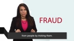 News Words: Fraud