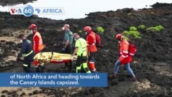 VOA60 Africa - Spain: At least 8 migrants from Africa dead in shipwreck off Canary Islands