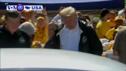VOA60 America - Trump Visits Hurricane-Damaged North Carolina