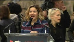 Actress America Ferrera Addresses Protesters at Women's March in Washington