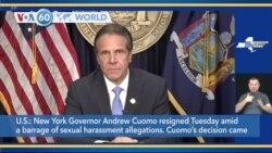 VOA60 World - New York Governor Cuomo Announces Resignation