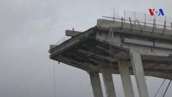 Une quarantaine de morts en suite à l'effondrement d'un viaduc en Italie (vidéo)