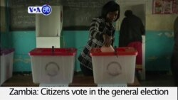 VOA60 Africa - Zambia votes for current President Edgar Lungu or his rival Hakainde Hichilema