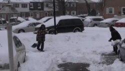 Un manto de nieve cubre Washington