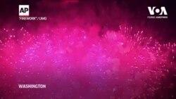 Феєрверки у Вашингтоні, якими завершилася святкова частина інавгурації Джо Байдена. Відео