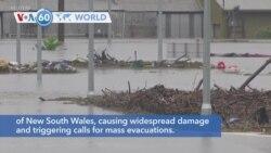 VOA60 Addunyaa - Flood Forces Thousands to Evacuate Australia's New South Wales