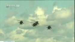 Se estrella helicóptero ruso en plena exhibición