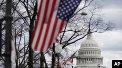 Capitólio, em Washington DC, a poucos dias da tomada de posse do presidente eleito Joe Biden e da vice-presidente eleita Kamala Harris (17 Janeiro 2021)