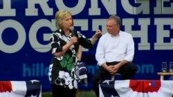 2016-08-01 美國之音視頻新聞: 克林頓和川普競選對峙升溫