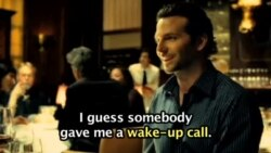 'A wake-up call'…영화 '리미트리스' 중에서