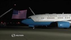 Recibimiento de estadounidenses liberados por Corea del Norte