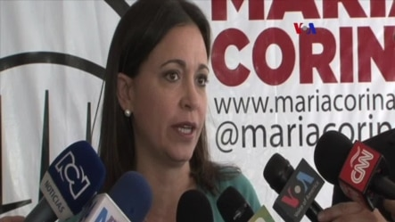 Machado fue imputada por la justicia venezolana por supuestamente conspirar contra Maduro.