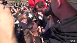 Scuffle During Protest at RNC