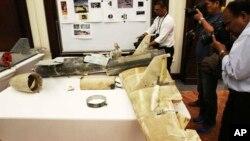 تصویری از لاشه پهپاد ایرانی قاصف که در جنگ یمن سرنگون شده است (عکس از آرشیو)