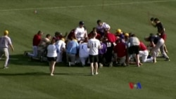 美國國會棒球賽 球員祈禱槍擊案傷者康復(粵語)