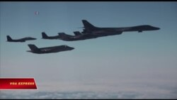 Máy bay ném bom Mỹ bay ngang bán đảo Triều Tiên
