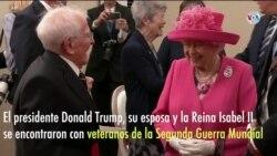 Trump, Melania y la Reina Isabel dan sus respetos a veteranos de la Segunda Guerra Mundial