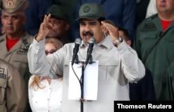 FILE - Venezuela's President Nicolas Maduro speaks in Caracas, July 2, 2019.