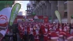 2013-12-15 美國之音視頻新聞: 幾千人參加馬德里聖誕慈善籌款長跑