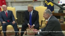 El presidente Donald Trump discutió con líderes demócratas sobre el muro