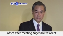 VOA60 Africa - Chinese foreign minister Wang Yi pledges China's continued aid to Africa