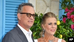 FILE - Tom Hanks and Rita Wilson have tested positive for the novel coronavirus.