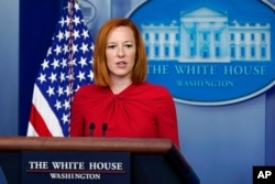 White House press secretary Jen Psaki speaks during the daily briefing at the White House in Washington, July 19, 2021.