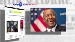 VOA60 Elections - Republican presidential hopeful Ben Carson has announced a flat tax plan amid slumping poll numbers