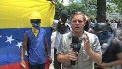 Opositores venezolanos protestan por sus derechos