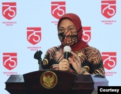 Menaker Ida Fauziyah di Istana Kepresidenan Jakarta, Senin (10/8) menetapkan jumlah penerima subsidi upah pegawai swasta di tambah menjadi 15,7 juta pekerja. (Setpres RI)