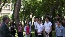 ABŞ səfiri Amerikada təhsil alacaq şagirdlərlə görüşüb [Video]