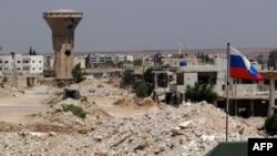 Российский военный конвой в сирийской провинции Даръа. 1 сентября 2021